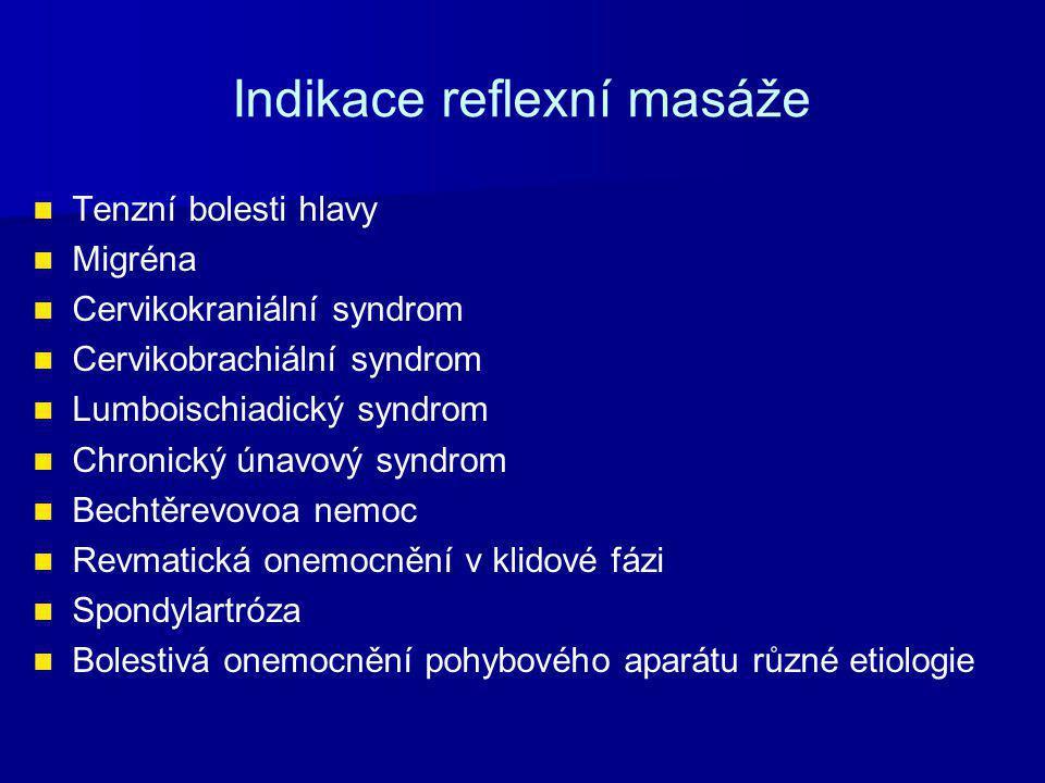 Indikace reflexní masáže