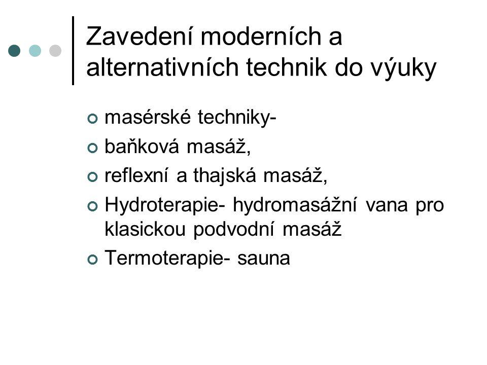 Zavedení moderních a alternativních technik do výuky