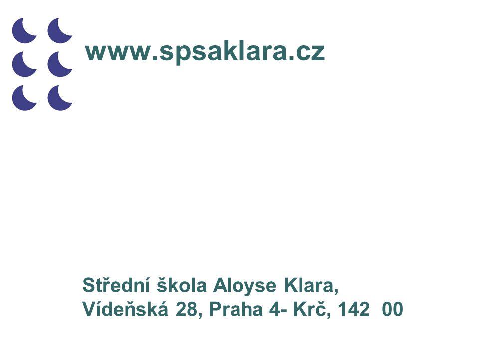 www.spsaklara.cz Střední škola Aloyse Klara,