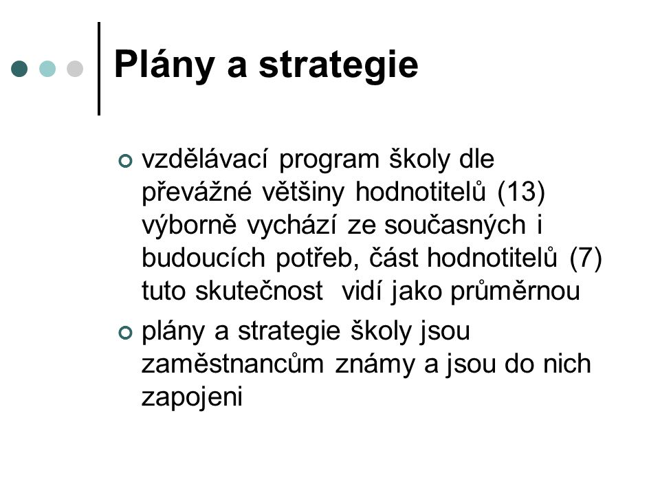 Plány a strategie