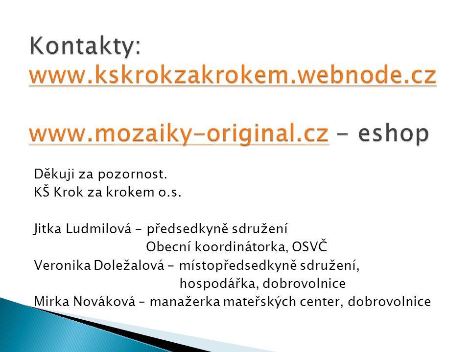 Kontakty: www. kskrokzakrokem. webnode. cz www. mozaiky-original