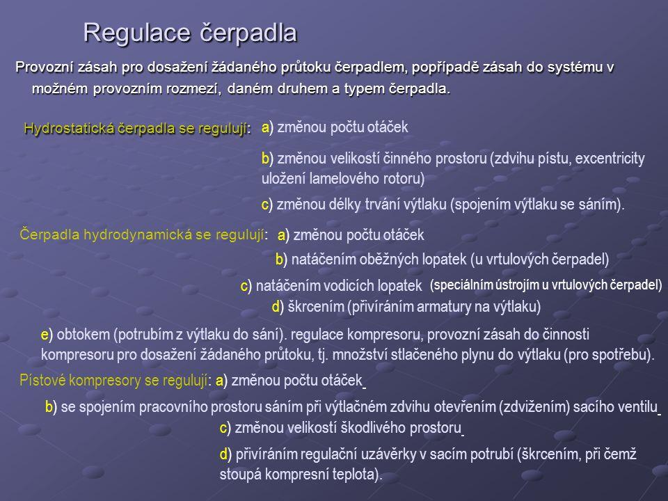 Regulace čerpadla