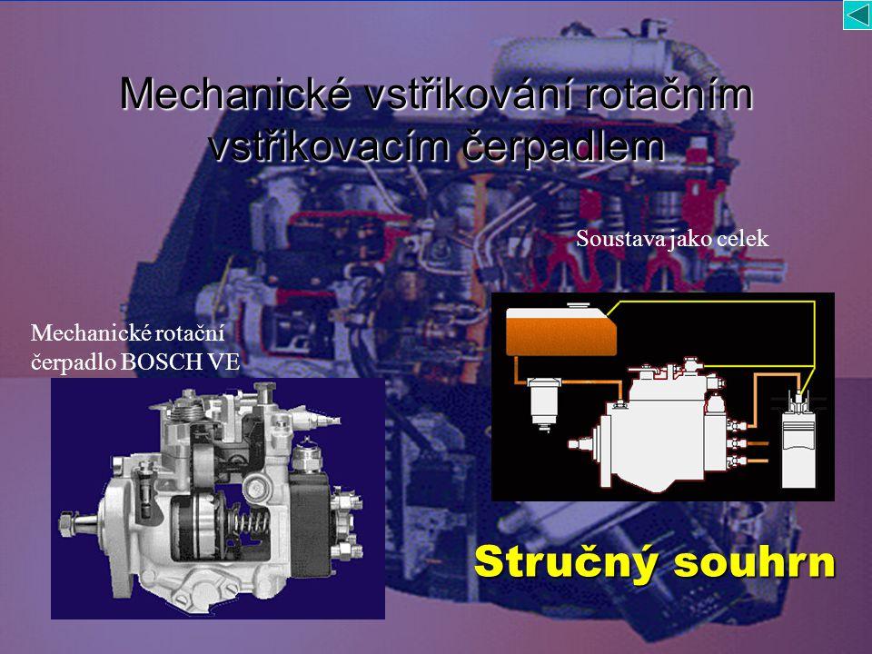 Mechanické vstřikování rotačním vstřikovacím čerpadlem