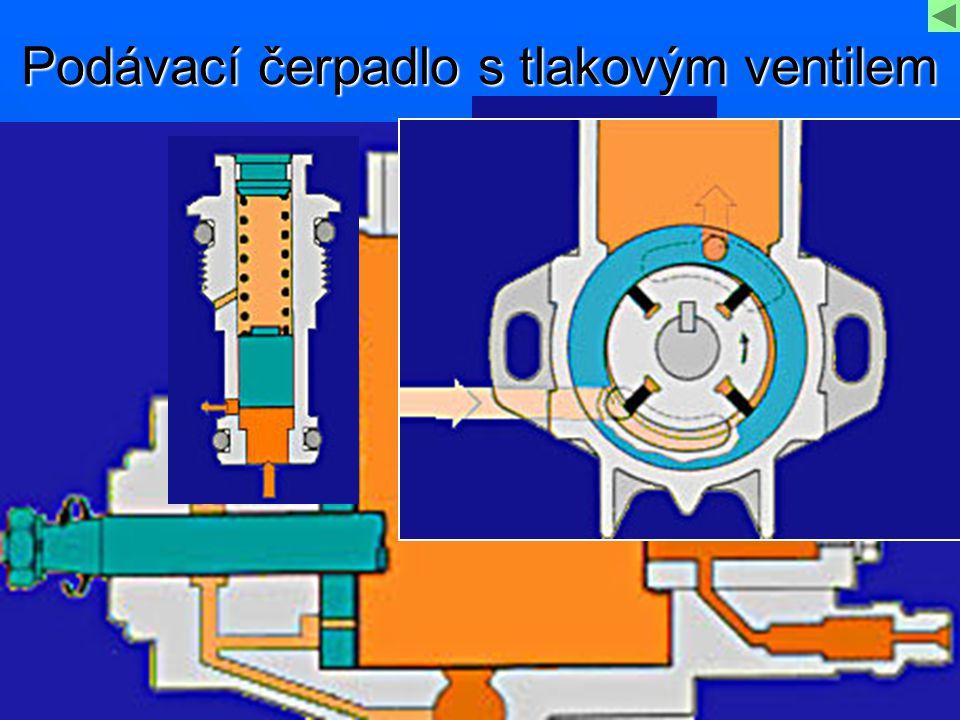 Podávací čerpadlo s tlakovým ventilem