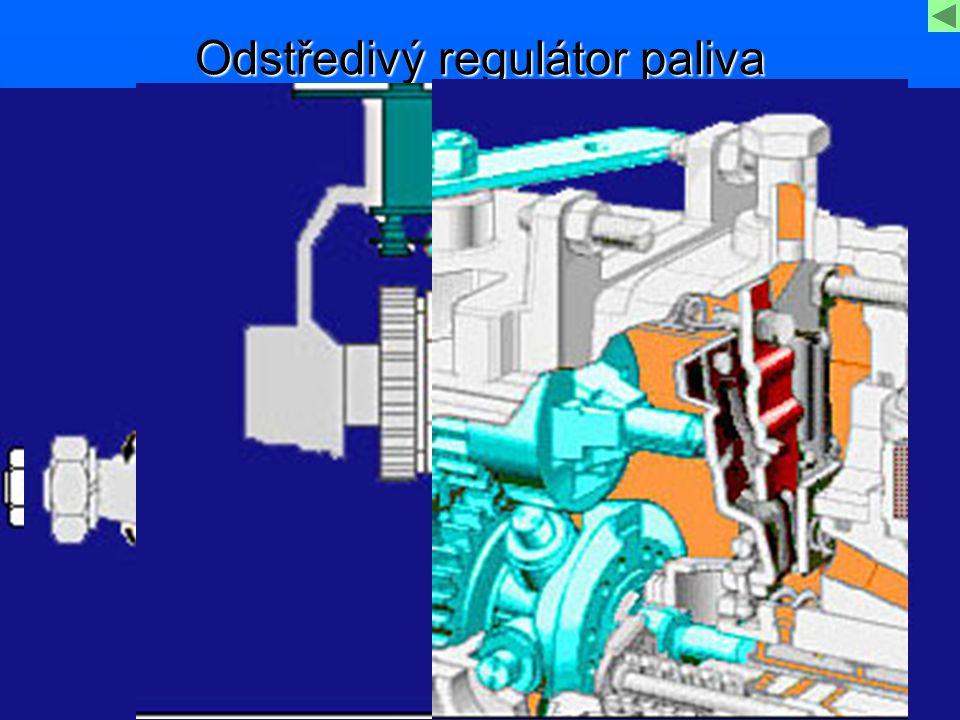 Odstředivý regulátor paliva