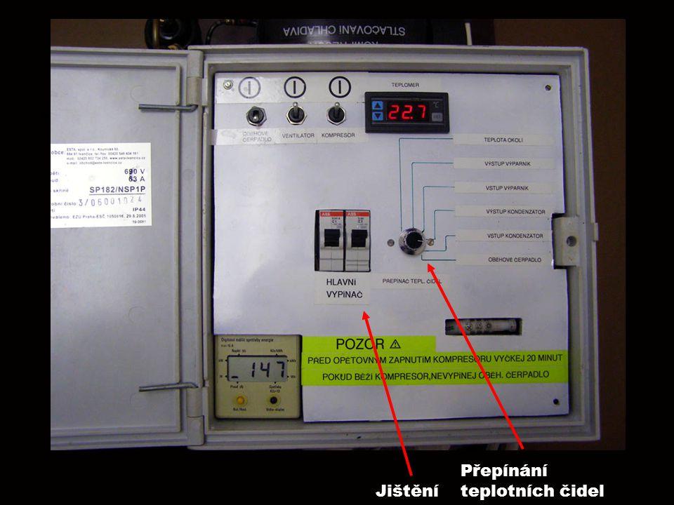 Přepínání teplotních čidel