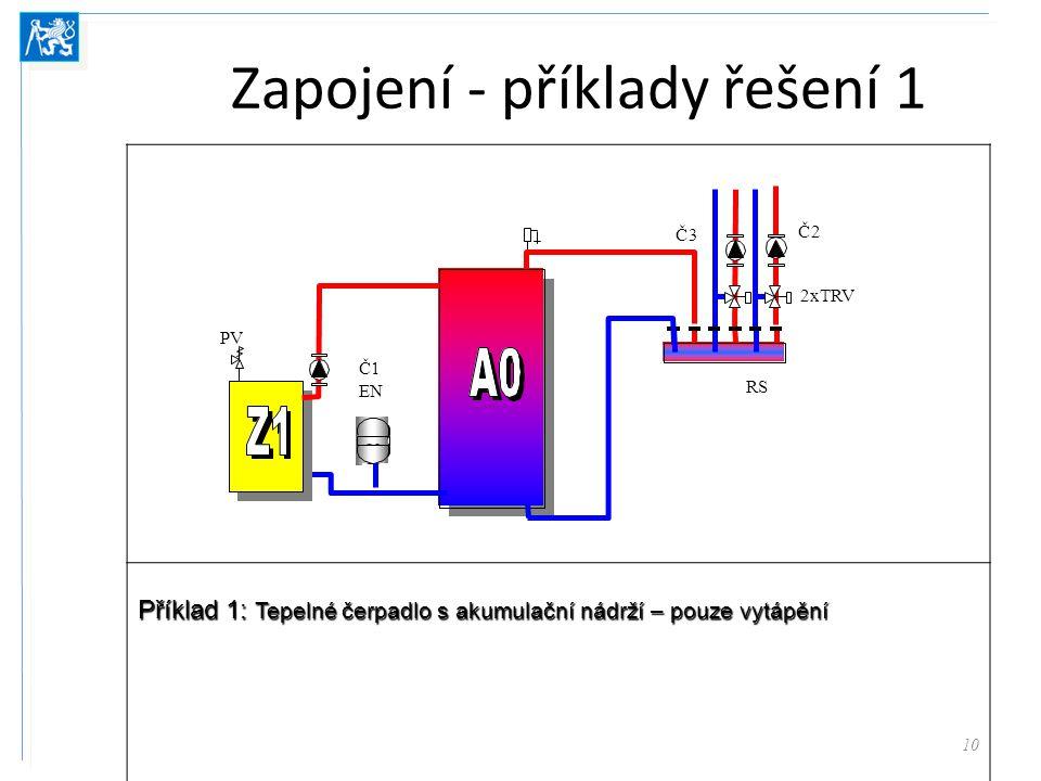 Zapojení - příklady řešení 1
