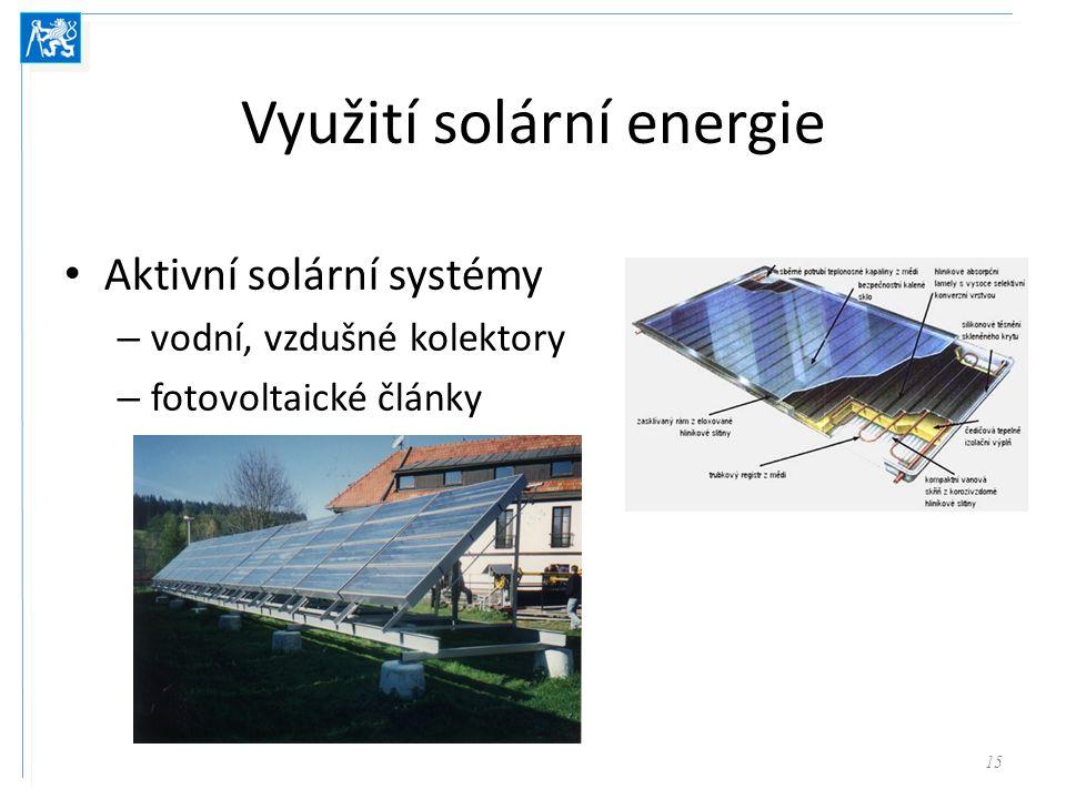 Využití solární energie