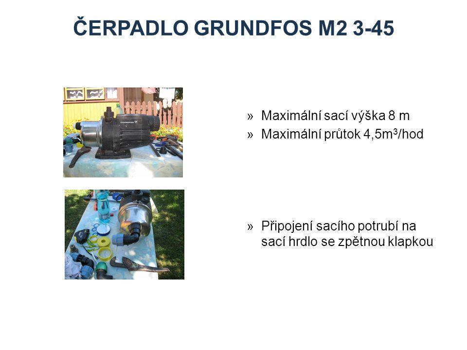 ČERPADLO grundfos M2 3-45 Maximální sací výška 8 m