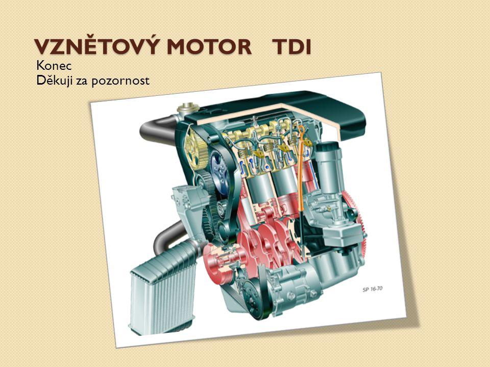Vznětový motor TDI Konec Děkuji za pozornost