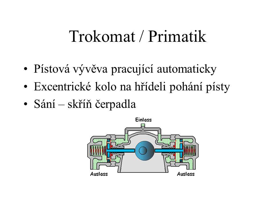 Trokomat / Primatik Pístová vývěva pracující automaticky