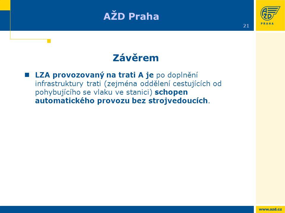 AŽD Praha 21. Závěrem.