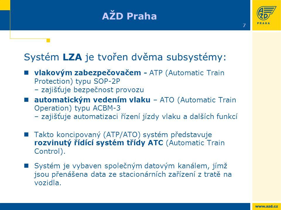 Systém LZA je tvořen dvěma subsystémy: