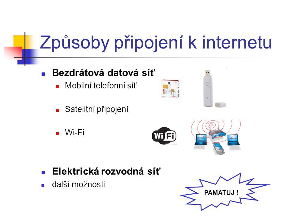 Způsoby připojení k internetu