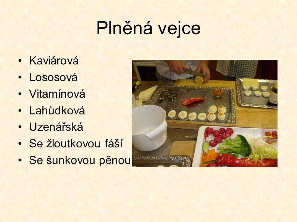 Plněná vejce Kaviárová Lososová Vitamínová Lahůdková Uzenářská
