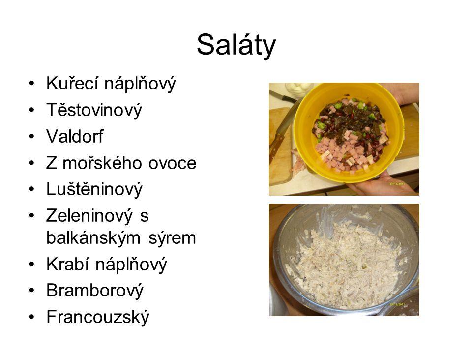 Saláty Kuřecí náplňový Těstovinový Valdorf Z mořského ovoce