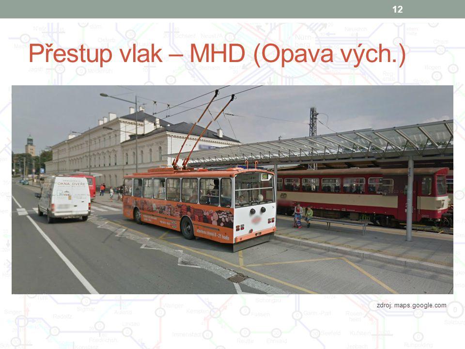 Přestup vlak – MHD (Opava vých.)