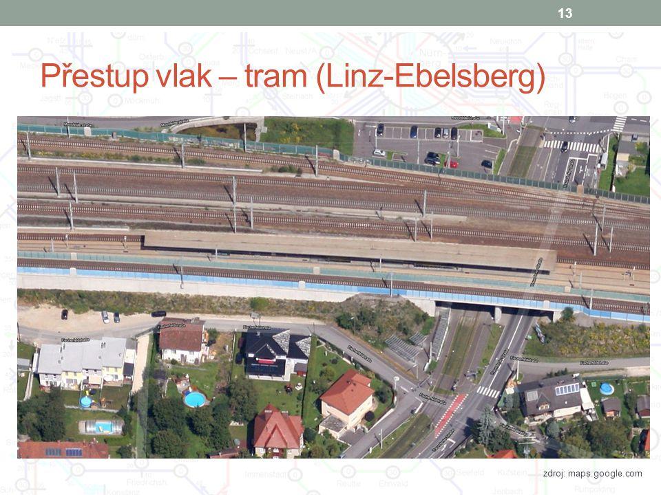 Přestup vlak – tram (Linz-Ebelsberg)