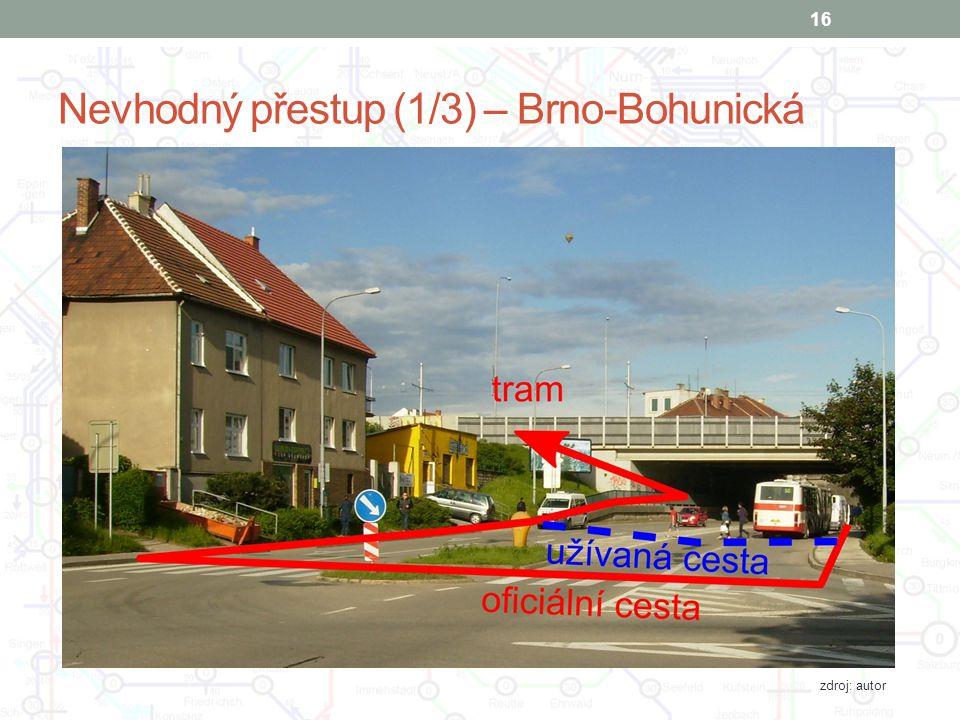 Nevhodný přestup (1/3) – Brno-Bohunická