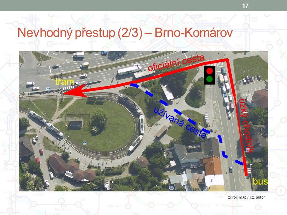Nevhodný přestup (2/3) – Brno-Komárov