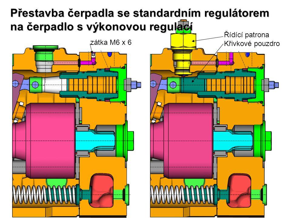 Přestavba čerpadla se standardním regulátorem na čerpadlo s výkonovou regulací