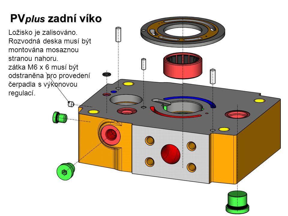 PVplus zadní víko Ložisko je zalisováno.