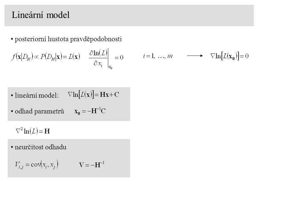 Lineární model posteriorní hustota pravděpodobnosti lineární model: