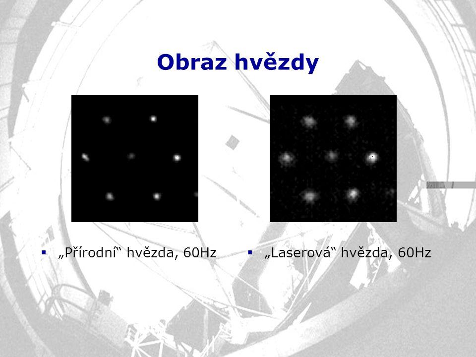 """Obraz hvězdy """"Přírodní hvězda, 60Hz """"Laserová hvězda, 60Hz"""