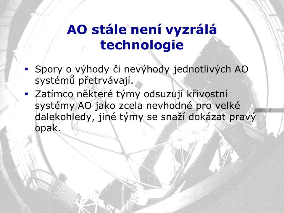 AO stále není vyzrálá technologie