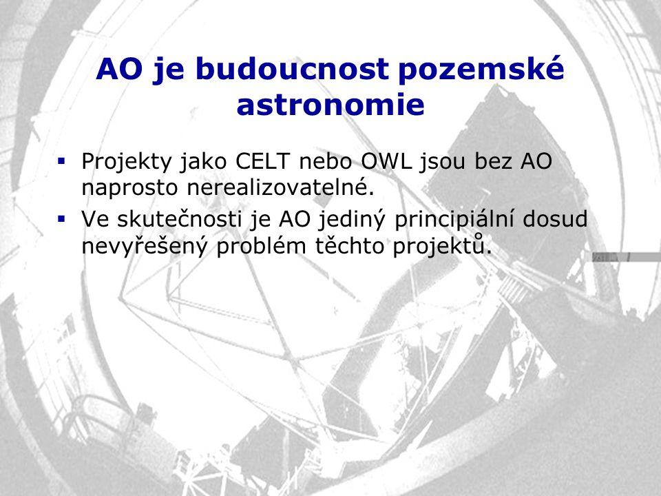 AO je budoucnost pozemské astronomie