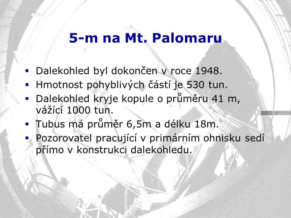 5-m na Mt. Palomaru Dalekohled byl dokončen v roce 1948.