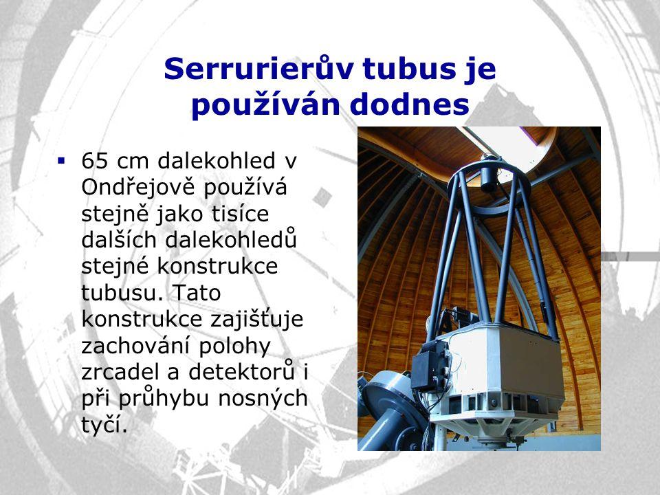 Serrurierův tubus je používán dodnes