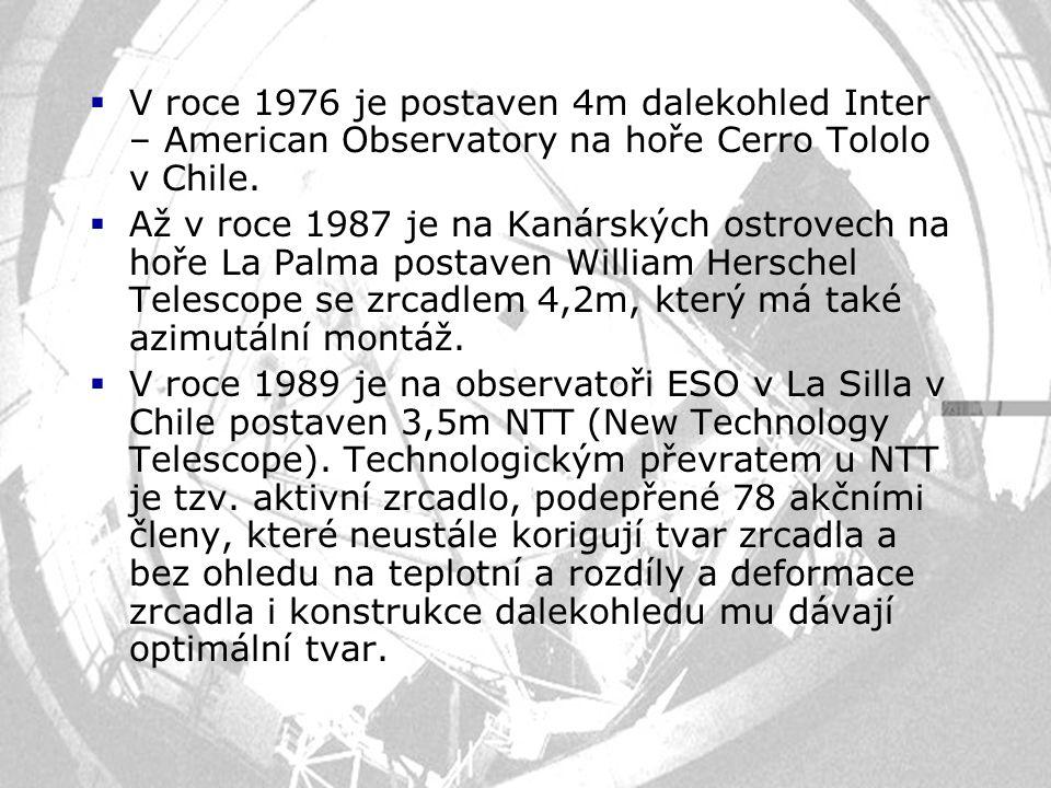 V roce 1976 je postaven 4m dalekohled Inter – American Observatory na hoře Cerro Tololo v Chile.