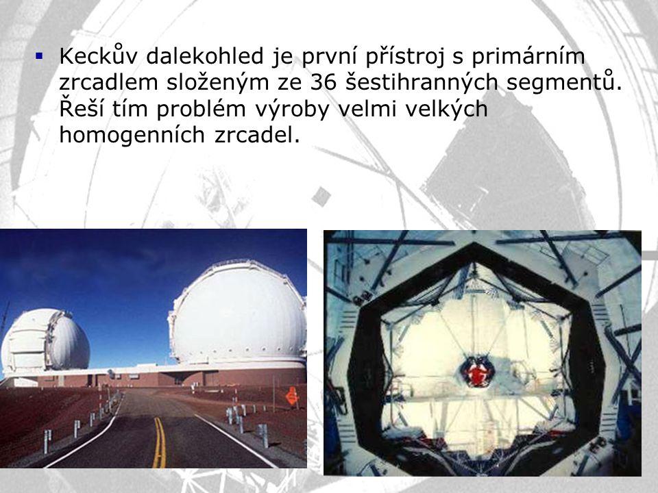 Keckův dalekohled je první přístroj s primárním zrcadlem složeným ze 36 šestihranných segmentů.