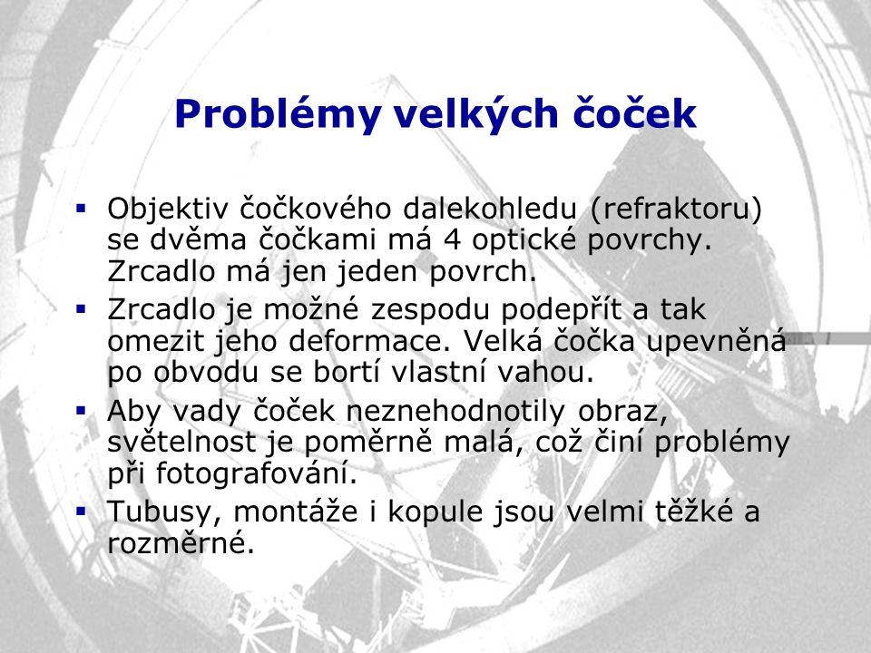 Problémy velkých čoček
