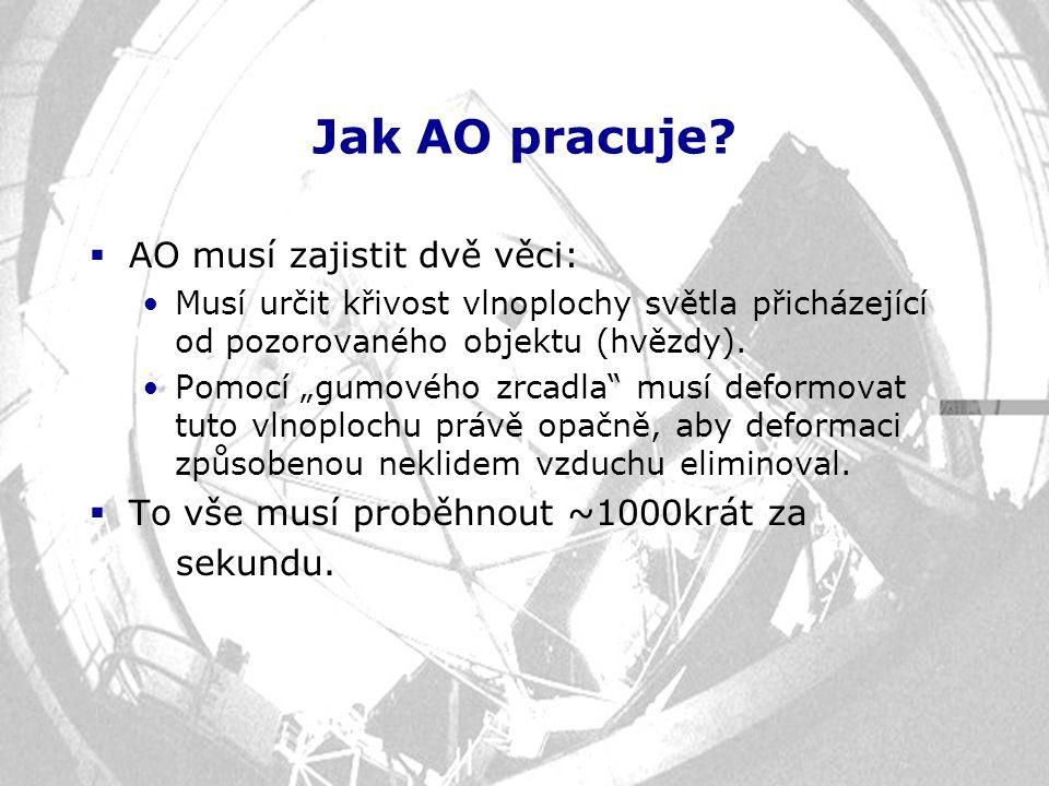 Jak AO pracuje AO musí zajistit dvě věci: