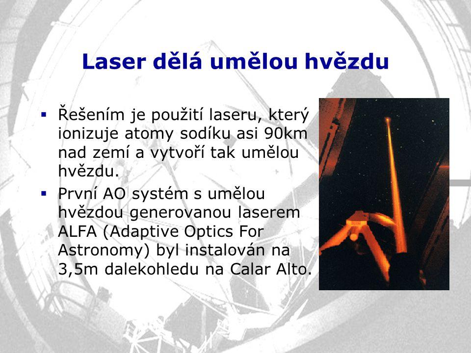 Laser dělá umělou hvězdu