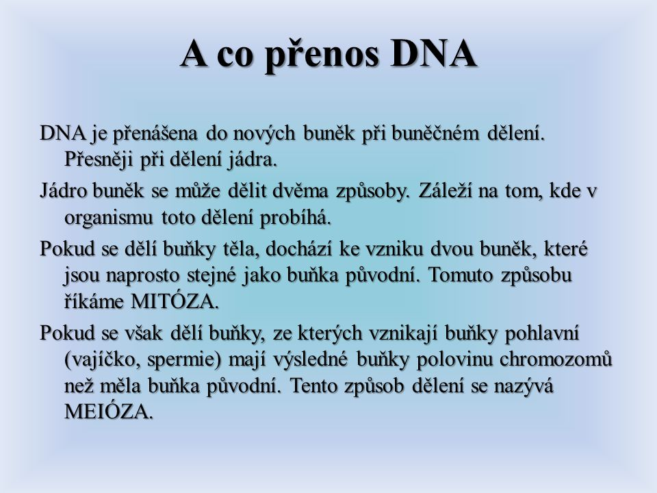 A co přenos DNA