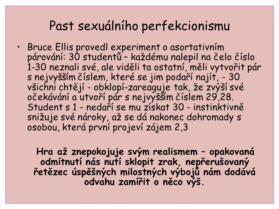 Past sexuálního perfekcionismu