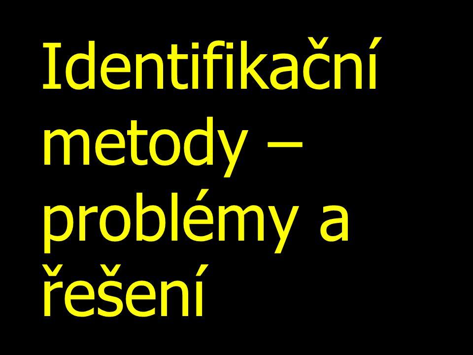 Identifikační metody – problémy a řešení