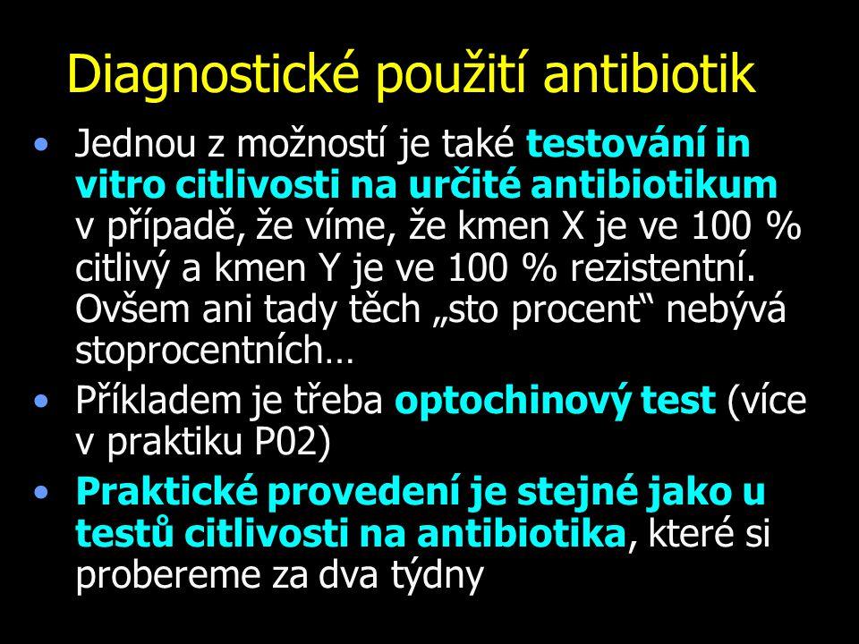 Diagnostické použití antibiotik