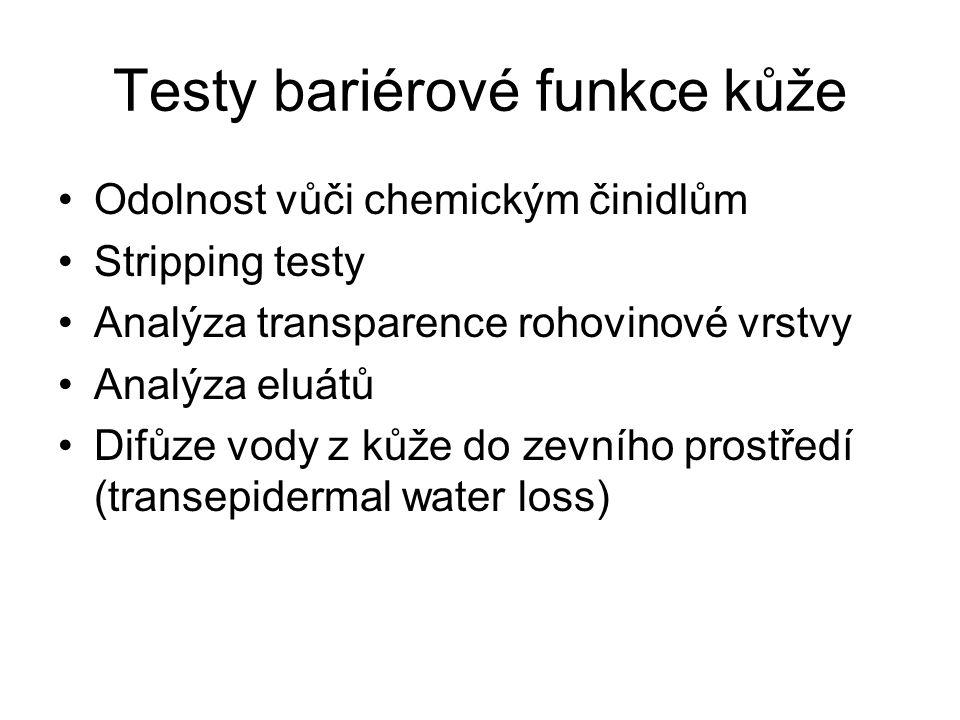 Testy bariérové funkce kůže