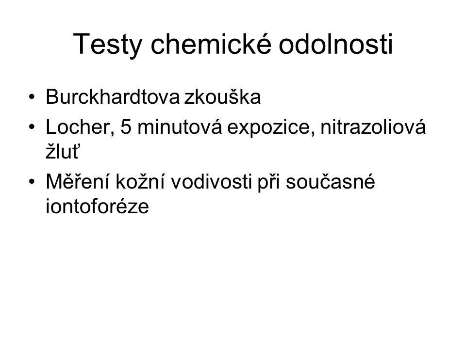 Testy chemické odolnosti
