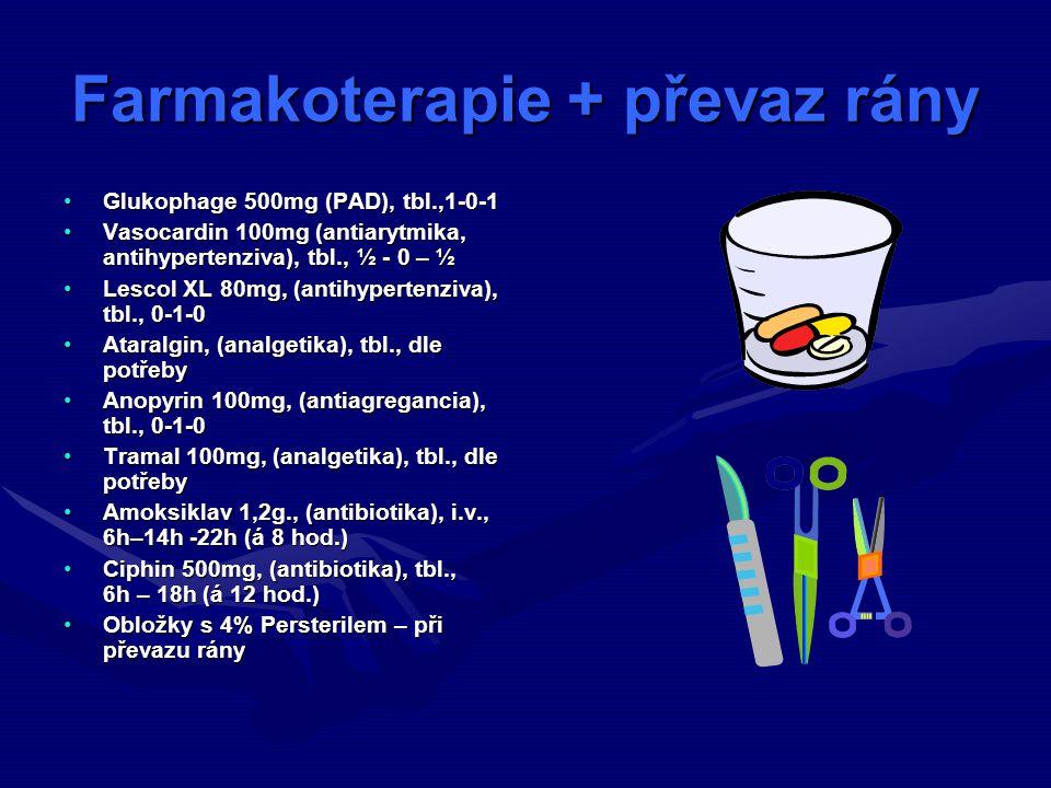 Farmakoterapie + převaz rány