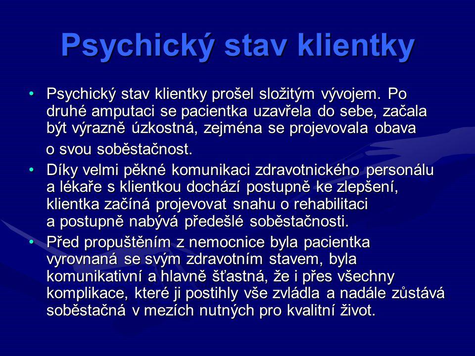 Psychický stav klientky