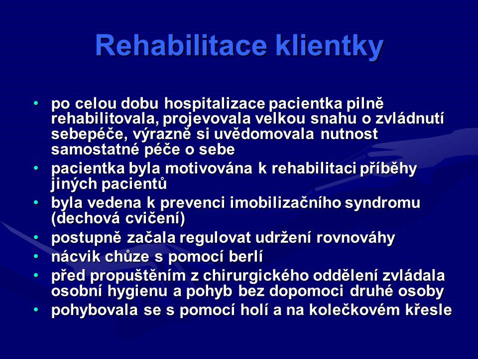 Rehabilitace klientky