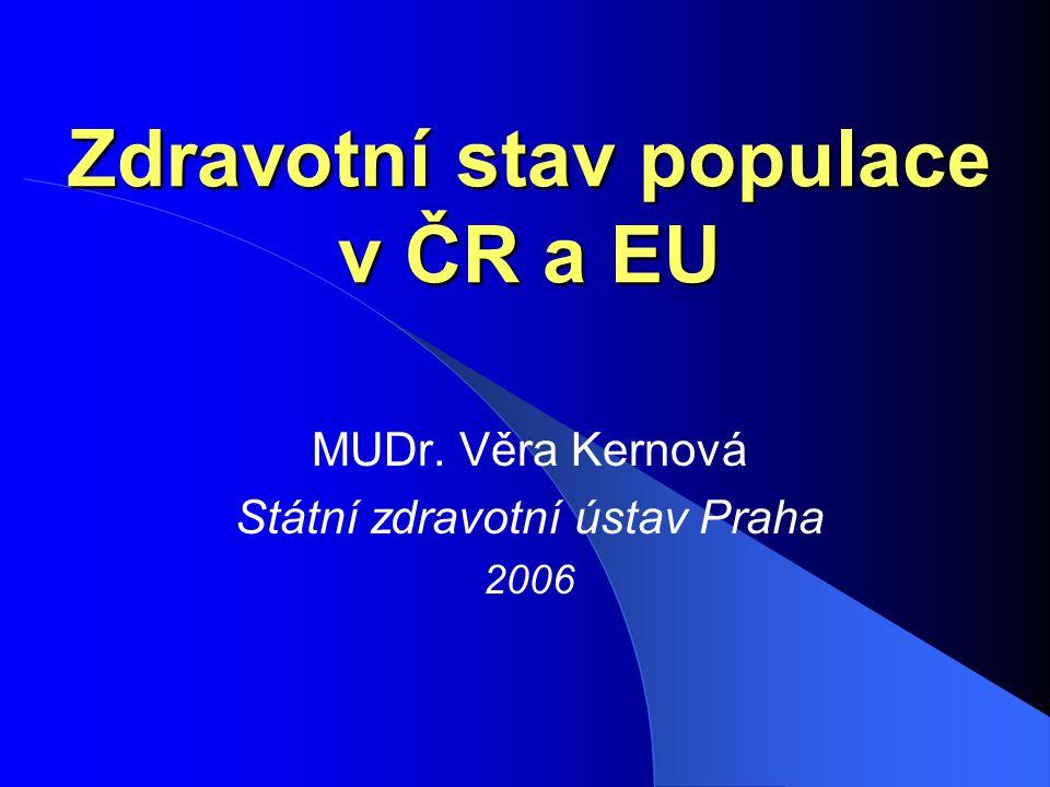 Zdravotní stav populace v ČR a EU