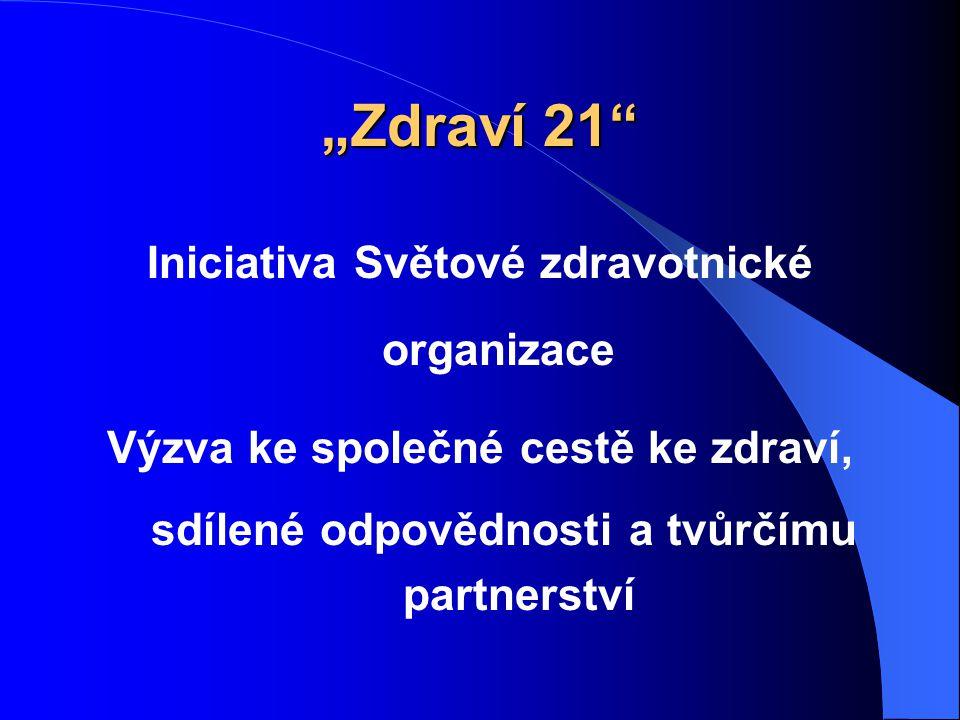 """""""Zdraví 21 Iniciativa Světové zdravotnické organizace"""