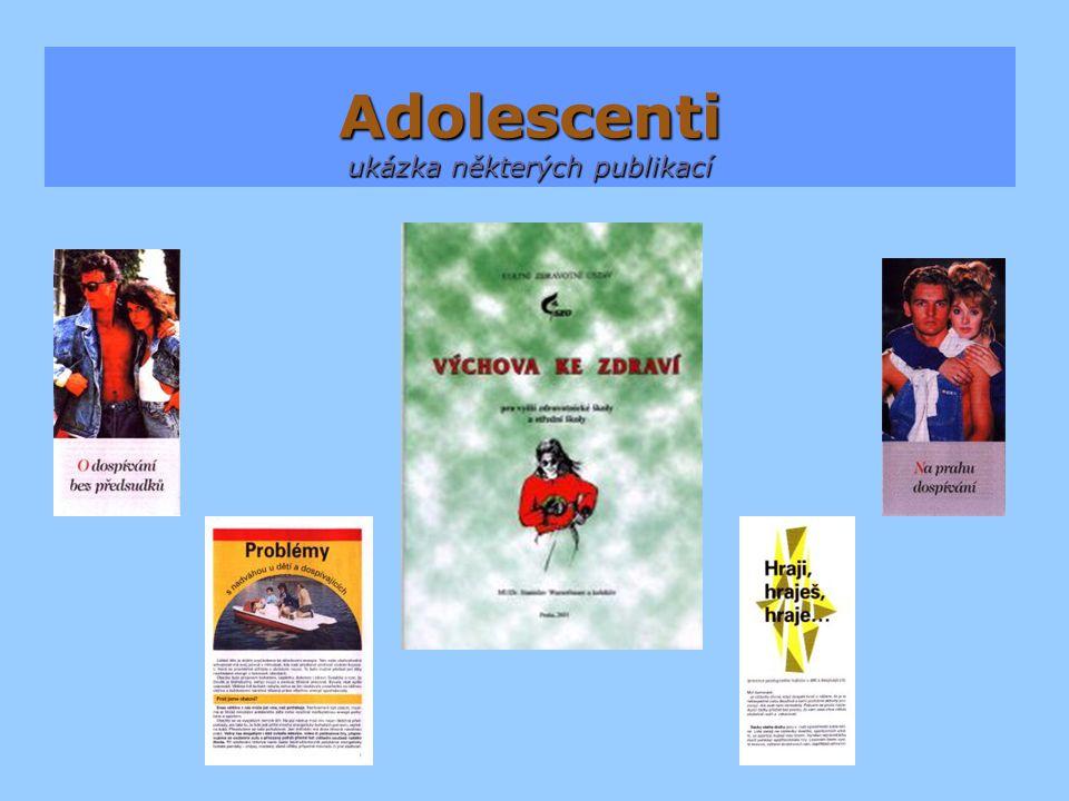 Adolescenti ukázka některých publikací