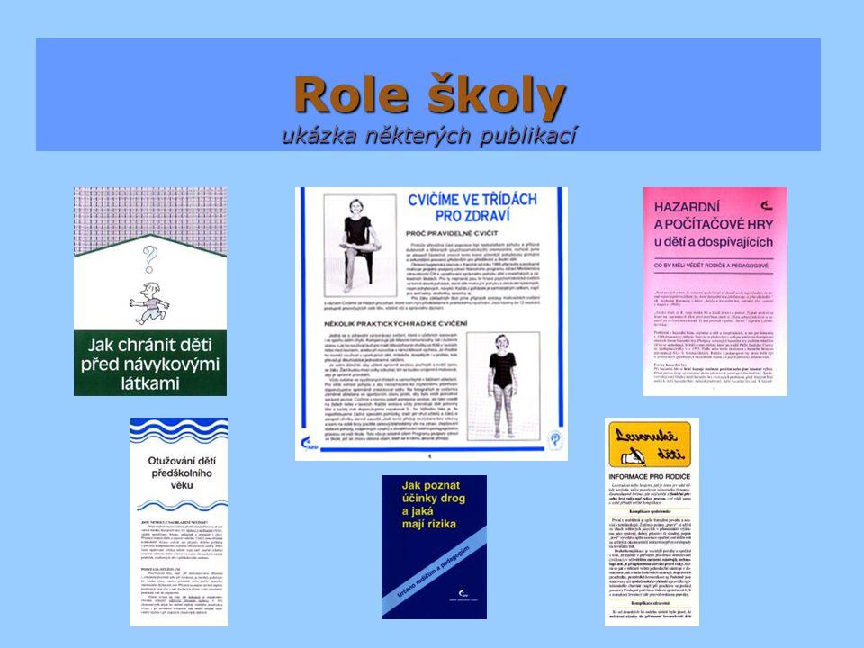 Role školy ukázka některých publikací